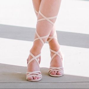e64037a34b9 Lulu s Shoes - Lulu s Ashton style nude suede heel👡